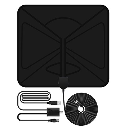 free shipping primacc ultra thin digital hdtv antenna indoor 50 miles amplified tv antenna with. Black Bedroom Furniture Sets. Home Design Ideas