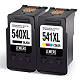 2 LEMERO Remanufactured High Yield Ink Cartridges for Canon PG-540XL CL-541XL for Canon Pixma MG2150 MG2250 MG3150 MG3250 MG3550 MG4150 MG4250 MX375 MX395 MX435 MX455 MX515 MX525,Black Multicolor