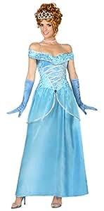 Atosa - 29004 - Para Disfraces para Adultos - Princesa - Blue - T-2