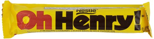 Nestle Oh Henry Chocolate Single, Candy Bars (Pack of 36)