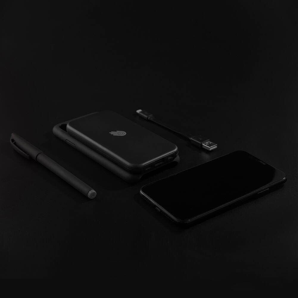 iPhone X Battery Case,BOYA 5000mAh Charger Battery backup ultra thin Portable mini with Charge Cable Extended Protective Magnetic phone case for iphone x 10 slim 3 in 1(black)