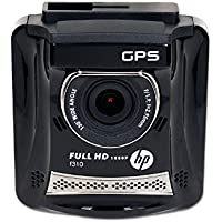 HP Hewlett Packard Full HD 1080P Car Dash DVR with GPS, Black (HPD-F310-VP)