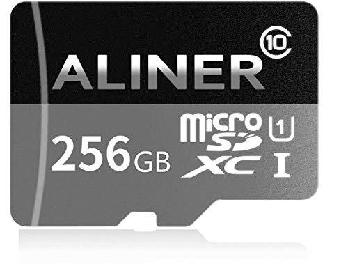 ALINER 256GB High Speed Class 10 Micro SD SDXC Card Memory TF Card with SD Adapter by ALINER
