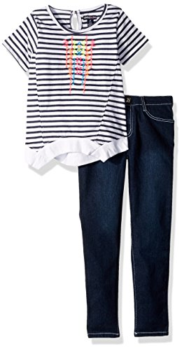 Limited Too Little Girls' Fashion Top and Pant Set (More Styles Available), Medium Blue Denim, 5 by Limited Too