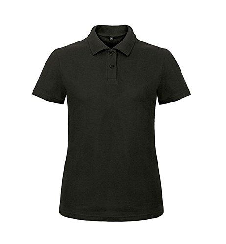 Donna Stampa Adatto Polo Manica Black Shirt Corta Ricamare 6CTwxq