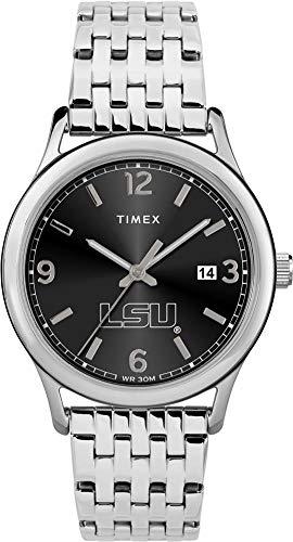 Steel Watch State Tigers Sport (Timex Women's LSU Tigers Louisiana State Watch Sage Stainless Watch)