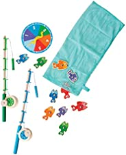 Melissa & Doug Catch & Count Wooden Fishing Game with 2 Magne