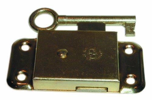 Schrankschloss mit Schlü ssel, Messing, 63mm (1 Stü ck) Banner
