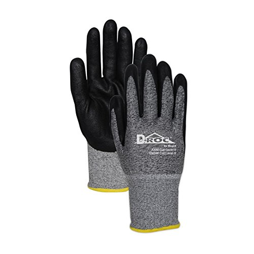 Magid Glove & Safety GPD586-10 Magid D-ROC 18-Gauge HPPE Blend Foam Nitrile Palm Coated Work Glove Cut Level 4, 11, Salt & Pepper , 10 (Pack of 12) by Magid Glove & Safety (Image #3)