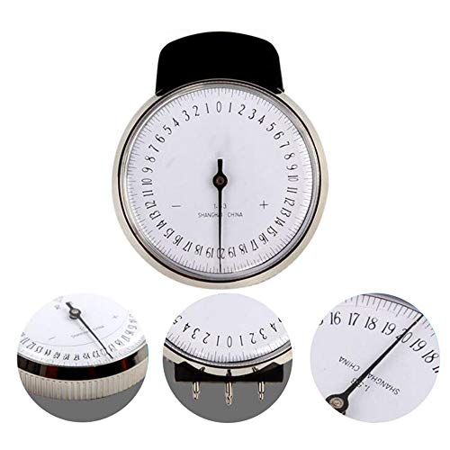 Pevor Ophthalmic Lens Clock Base Curve Optician Lens Measure with Storage Box