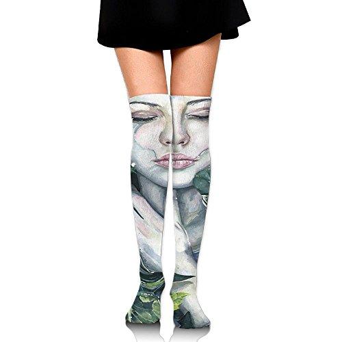 Naturen Omarmen Vrouwen Lang Over De Knie Dij Hoge Kousen Cosplay Sokken Kous Wit
