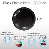 Exquisite 7 Inch. Black Plastic Dessert/Salad