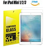 """iPad Mini 1/2/3 Tempered Glass Screen Protector, TOWEE 2 Pack iPad Mini / iPad Mini 2 /iPad Mini 3 7.9"""" 9H HD-Clear Screen Protector Film with Anti-Scratch, Anti-Fingerprint, Eyes-Protected Function"""