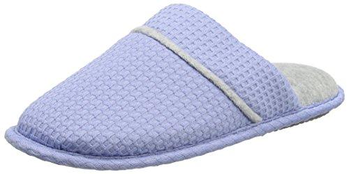 Dearfoams Closed Toe Scuff - Pantuflas Mujer Blue (Iceberg)