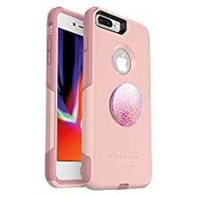 Bundle: OtterBox Commuter Series Case for iPhone 8 Plus & iPhone 7 Plus (ONLY) – (Ballet Way) + PopSockets PopGrip – (Petal Power)
