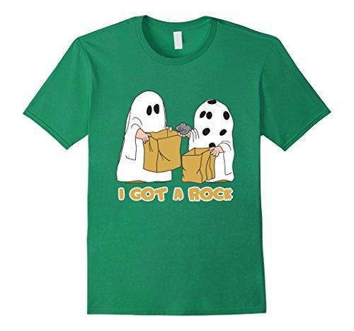 Mens I Got A Rock - Funny Ghost Halloween T-shirt XL Kelly Green