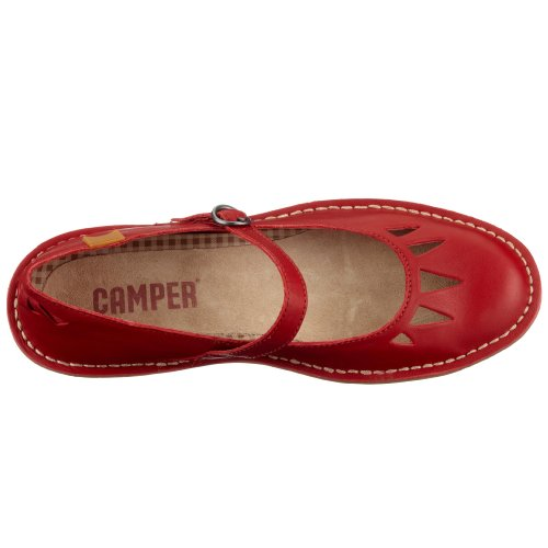 Mary Camper Kyoto Red Leather Jane Impala Women's Cqrxqw6t