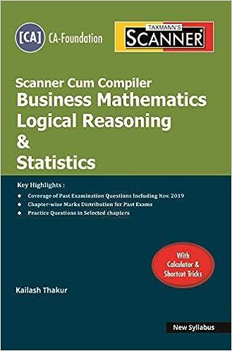 Taxmann's Scanner Cum Compiler-Business Mathematics Logical Reasoning & Statistics