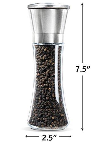 Premium Stainless Steel Salt And Pepper Grinder Set Of 2