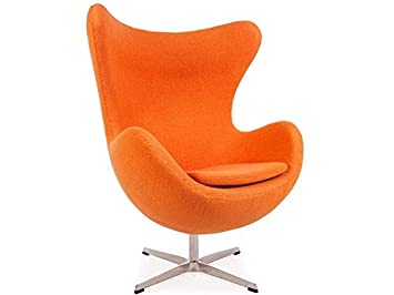 Fauteuil Design Egg.Famous Design Fauteuil Egg Arne Jacobsen Orange Amazon Fr