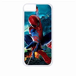 spiderman flying - Hard White Plastic Snap - On Case-Apple Iphone 5C Only - Great Quality! by icecream design