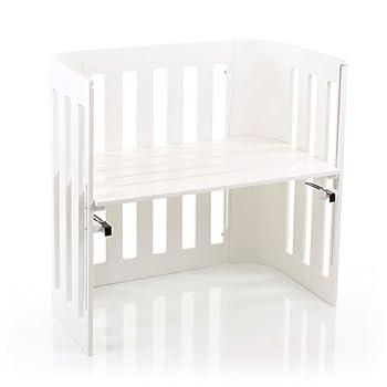 Image of Babybay Trend Bedside Sleeper Cot, White Varnished Baby