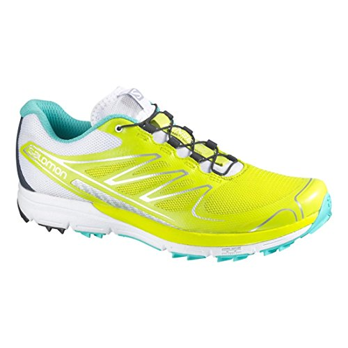 Salomon - Zapatillas de running para hombre Gecko Green / White / Softy Blue