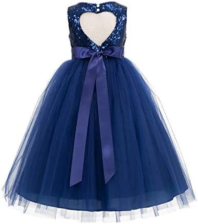 ekidsbridal Cutout Sequin Christening Dresses