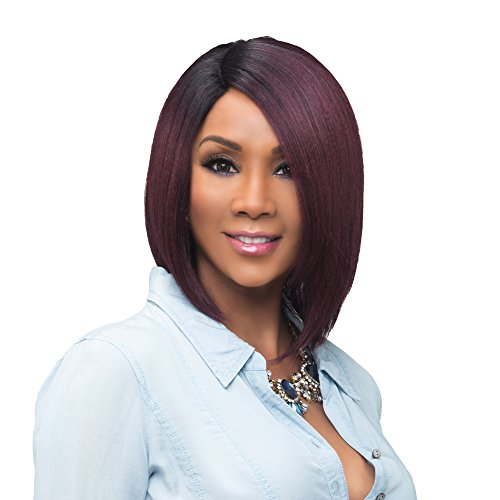 Vivica A Fox Usha Synthetic Heat Resistant Fiber Natural Baby Hair Lace Front Wig, 1B, 9.3 Ounce
