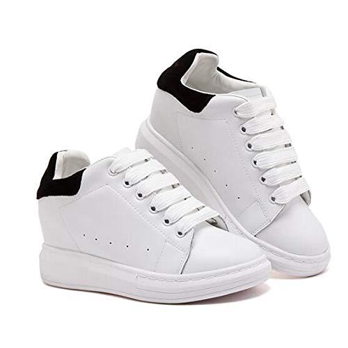 Punta Negra Leather Mujer de Rosa Cerrado Heel Sneakers Spring con Comfort Zapatos ZHZNVX Nappa Pink Flat Summer qB6OOw