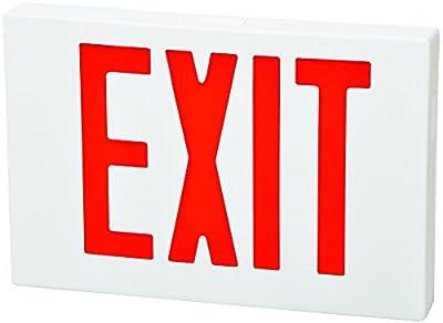 Fulham FHEX21WREM FireHorse LED Thin Profile Emergency Exit Sign, White