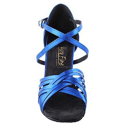 50 Nuances De La Collection De Chaussures De Danse Bleu / Violet, Pompes De Mariage: Femmes Chaussures De Bal Pour Le Latin, Tango, Salsa, Swing, Art De La Soirée Par Party Party (2.5, 3 Et 3.5 Talons) 2784l Bleu Satin