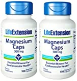 Life Extension Magnesium Vegetarian Capsules, 500 mg, 100 Count (100x2)