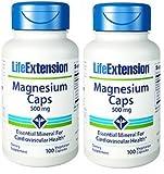 Life Extension Magnesium Vegetarian Capsules, 500 mg, 100 Count (100x2)