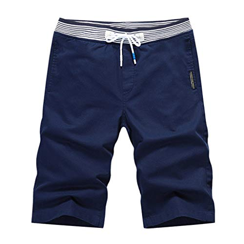 Lefthigh Men's Sports Beach Shorts Pants, Summer Fashion Casual Pure Color Loose Comfort Dark - Hockey Power Equipment Bag Dry
