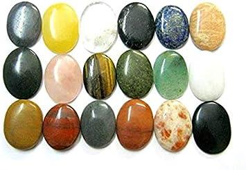 BEAUTFUL Juego de dieciséis Gemstone preocupación piedras conjunto Chakra Reiki Regalo pulgar piedras Bienestar energía positiva metafísica Feng Shui Meditación protectora potente curación