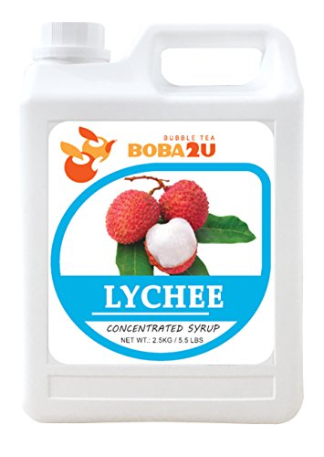 BOBA2U CONCENTRATED SYRUP LYCHEE 5.5 LBS (Lychee Syrup)