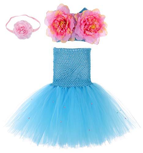 Tutu Dreams Halloween Mermaid Costumes for Girls Kids Fairy Princess Dress Up (Medium, Mermaid Suit-Teal)]()