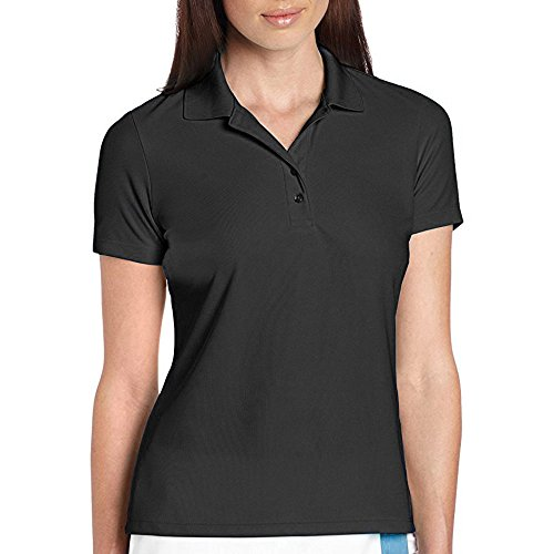 Greg Norman Women's Collection Pro-Tek Micro Pique Polo Shirt, Black, - Norman Women