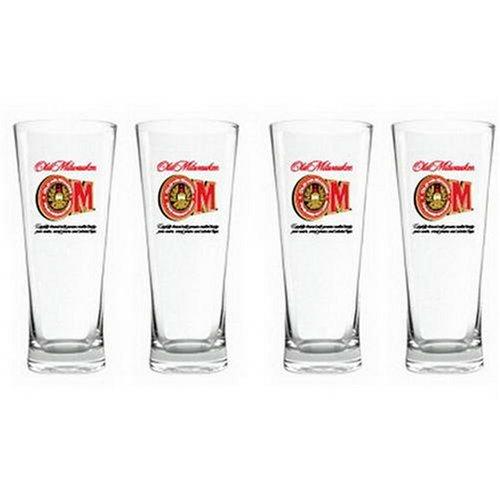 licensed-old-milwaukee-beer-flared-pilsner-glass-set