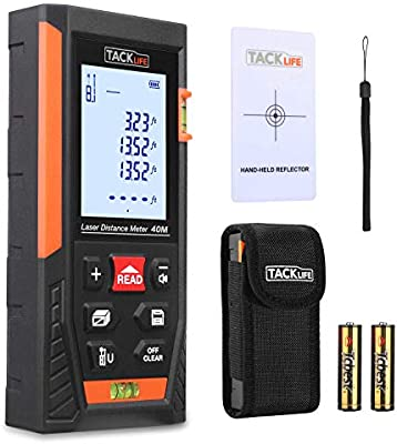 Tacklife HD40 Classic Laser Measure 131Ft M//In//Ft Mute Laser Distance Meter with