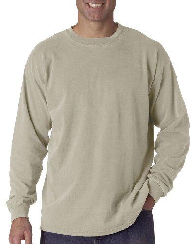 (Comfort Colors Ringspun Garment-Dyed Long-Sleeve T-Shirt (C6014)- SANDSTONE, M)