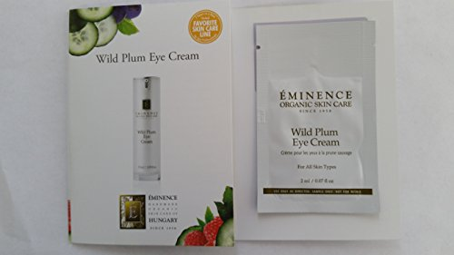 eminence Wild Plum Eye Cream Sample Set of Six Travel Size 100% Fresh Organic