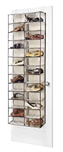 Whitmor S   Fashion Canvas Over The Door Shoe Shelves