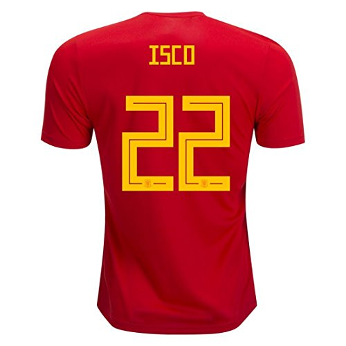 National 2018 Team World Soccer Cup Spain ISCO 22 Home Mens Jersey Size S 304044ee3