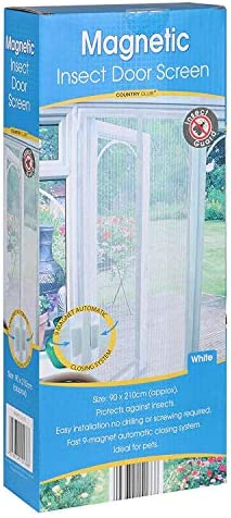 2X Magnetic Insect Door Screen White