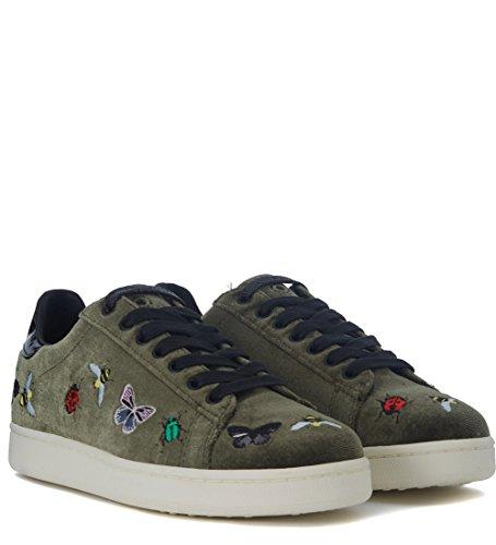 Moa Master Of Arts Womens Bug Bugs Sneakers Di Velluto Verde Con Ricamo Verde
