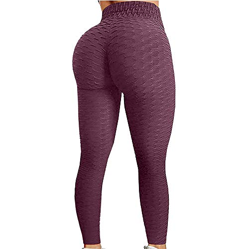 EKUPUZ Yoga Pants-Breathable Hip-Lifting Sweat-Absorbent Sports Yoga Pants Slimming Leggings High Waist Workout Leggings