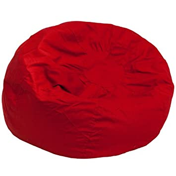 Charmant Amazon.com: Flash Furniture Oversized Solid Red Bean Bag Chair: Kitchen U0026  Dining