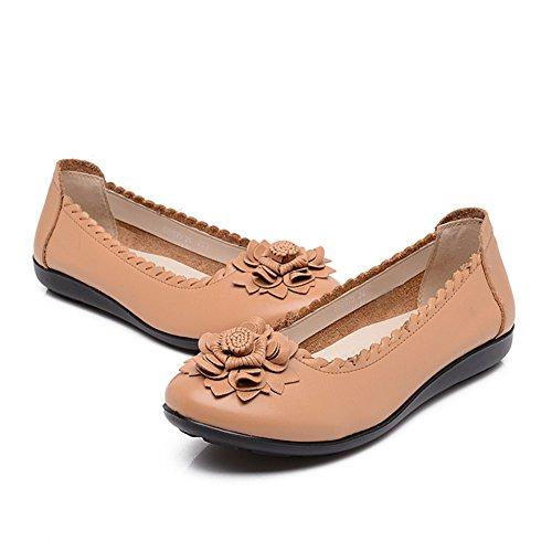 Breve zapatos viento nacional mujeres/Mitad inferior suave y zapatos de las mujeres de edad/Madre con zapatos planos/Mujeres zapatos de las mujeres embarazadas C